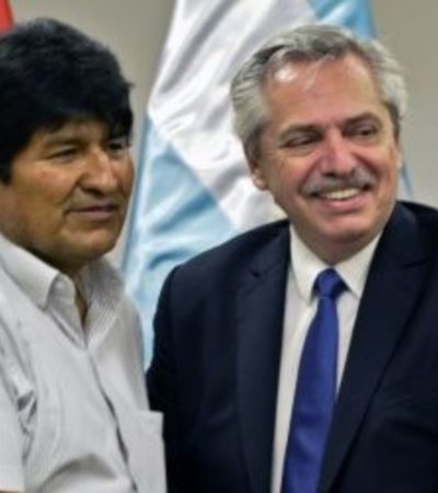 Reciben a Evo Morales en Argentina pero no podrá hacer declaraciones políticas públicamente