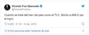 Reaparece Fox | Contrario a su costumbre, felicita a AMLO… y calla sobre aprehensión de García Luna