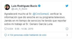 Niega Luis Rodríguez Bucio, comandante de la Guardia Nacional, haber rendido cuentas a Genaro García Luna