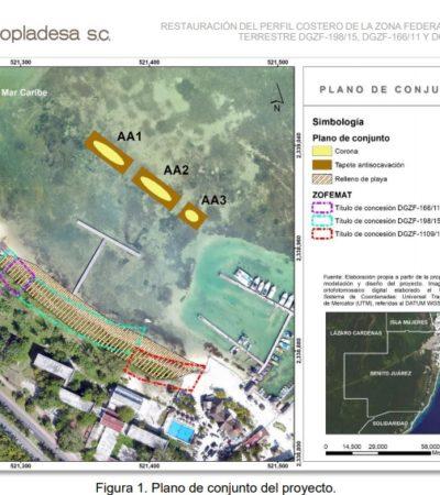 Pide Caveri instalar barreras marinas frente a Villas Juveniles del CREA