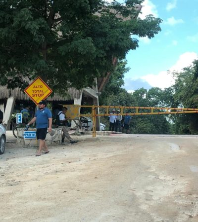 Hallan camioneta manchada con sangre… y luego un cadáver en la carretera a Tulum