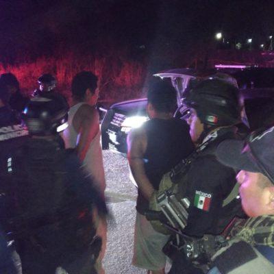 Detienen a tres presuntos sicarios, tras lesionar a víctima en Playa del Carmen