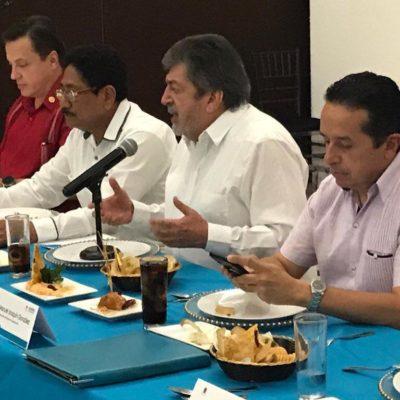 REUNIÓN PRIVADA SOBRE EL TREN MAYA EN CHETUMAL: Encuentro de Jiménez Pons con el Gobernador y Alcaldes para socializar el proyecto que será sometido a consulta