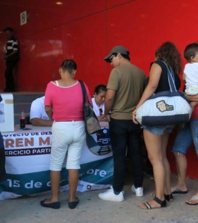 Da el 'sí' un 85.2% de votantes en la consulta pública sobre el Tren Maya en QR