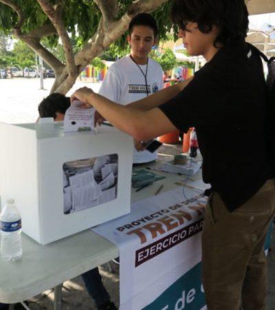 Votos a favor del Tren Maya en QR representan apenas un 5% de los 488 mil 434 sufragios que recibió AMLO en el estado cuando ganó la presidencia de México
