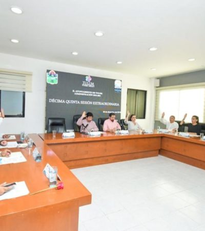 Aprueban integrantes del cabildo de Tulum el Presupuesto de Egresos 2020