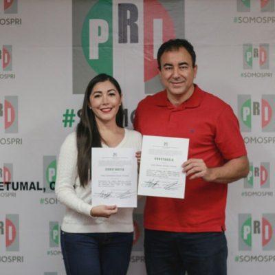 Recibe Candy Ayuso constancia de mayoría como dirigente del PRI; en próximos días asumirá el cargo