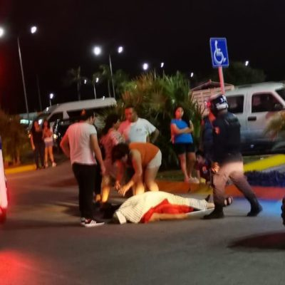 Muerte fulminante de una mujer en plaza comercial de Playa del Carmen