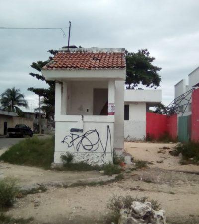 Casetas de vigilancia se convierten en 'nidos' de delincuentes por abandono y falta de elementos policíacos en Cancún
