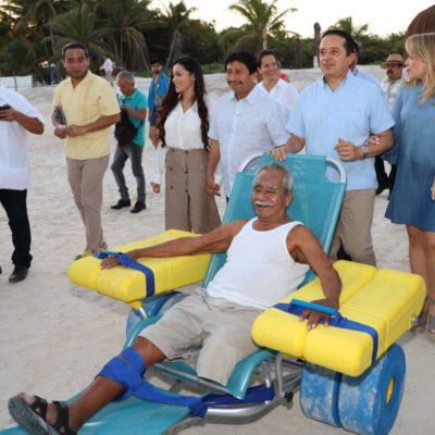 Inauguración de una playa inclusiva, el Centro de Autismo y transporte público inclusivo, los proyectos del 2019 en materia de inclusión