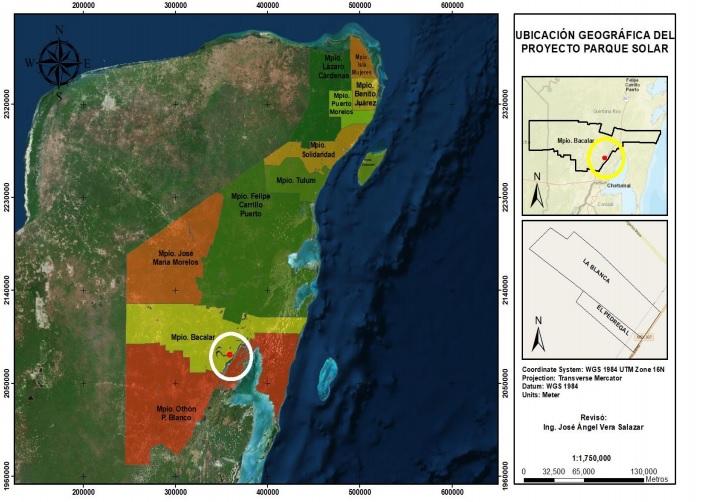 A consulta proyecto de construcción de parque solar en Bacalar