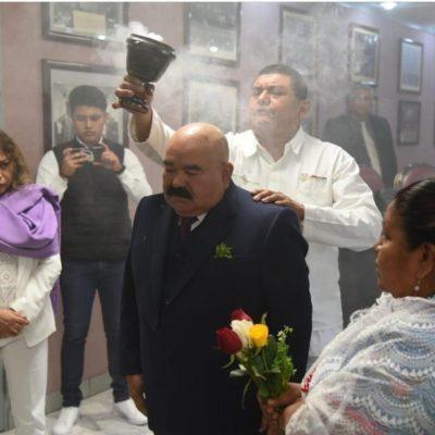 COMPARECE PROTEGIDO: Secretario de Salud de Veracruz se hace 'limpia' en la sala del Congreso