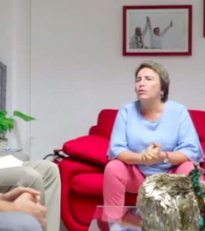 Rompeolas | ¿Cuál es el mensaje de Laura Beristain con su sillón rojo?