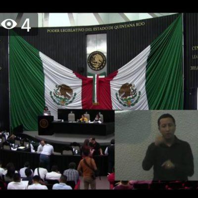 Incorporan lenguaje de señas en sesiones del Congreso de Quintana Roo