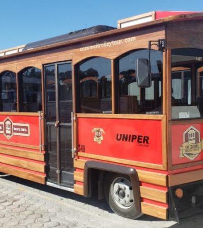 Ofrecerán recorridos turísticos en trolleys en la isla de Cozumel