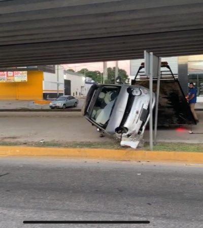 RÁPIDO, FURIOSO… ¿Y ALCOHOLIZADO EN PLAYA?: Huye de accidente y provoca otro; dos mujeres heridas