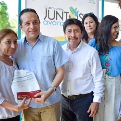 """Brindan más de 80 servicios a habitantes de la zona maya de Tulum en la """"Caravana Juntos Avanzamos"""""""