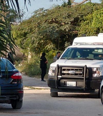 Hallan cuerpo embolsado con narcomensaje en la SM 226 de Cancún; policías municipales habrían alterado la escena del crimen