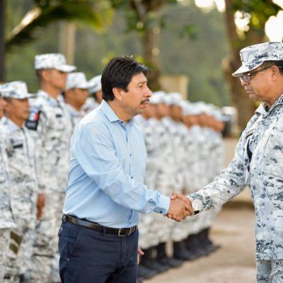La Guardia Nacional inicia operaciones en Tulum; Alcalde entrega patrullas para su operación