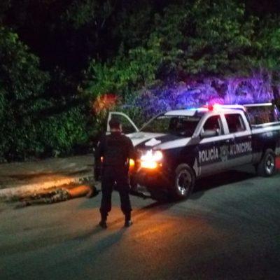 Abandonan a un hombre baleado en la parte posterior de la Plaza de Toros de Cancún