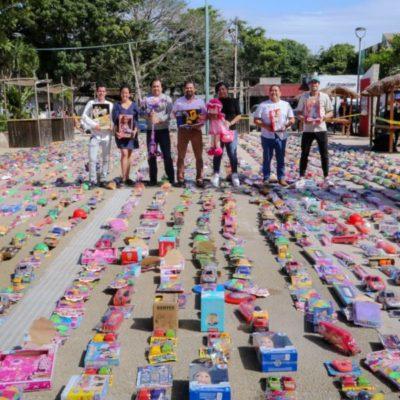 """Superan meta de recaudación durante el """"Kilómetro del juguete"""" en Tulum"""