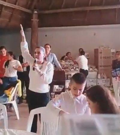 TRIUNFA MARA COMO 'ANIMADORA' DE LA FIESTA DE DIPUTADO: Repunte de violencia e inseguridad no impide que alcaldesa se divierta a lo grande en evento de Alberto Batun | VIDEO