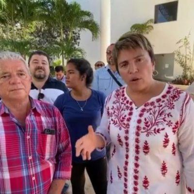 ARREMETE LAURA BERISTAIN CONTRA CRISTINA TORRES: Acusa alcaldesa a su antecesora de robarse el dinero para la construcción del nuevo palacio municipal y dejar una obra con deficiencias que ponen en riesgo a burócratas