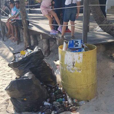 Bañistas denuncian mala imagen turística por acumulación de basura en playas de Solidaridad