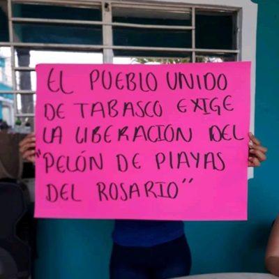 FOTOS | Marchan simpatizantes de líder criminal para exigir su liberación… ahora lo llaman 'El Robin Hood de Playas'