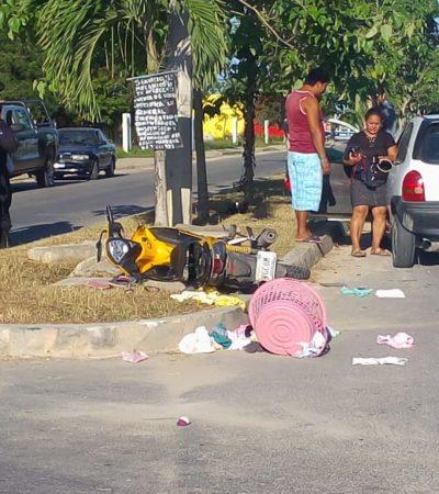 Atropellan a menor de edad que circulaba en moto en Chetumal