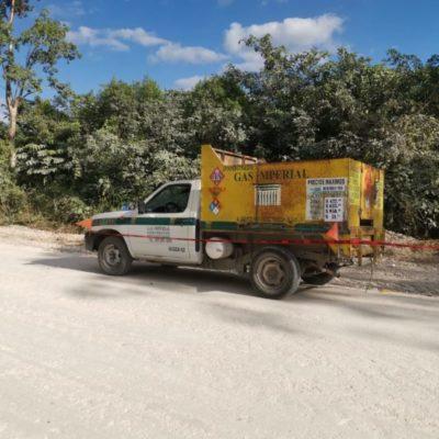 Sujetos armados se llevan botín de 30 mil pesos al asaltar a repartidor de gas en el camino Bacalar-Salamanca