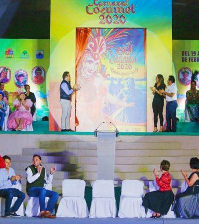 """""""SERÁ EL MEJOR DEL CARIBE"""": Presentan el póster y programa oficial del Carnaval Cozumel 2020"""