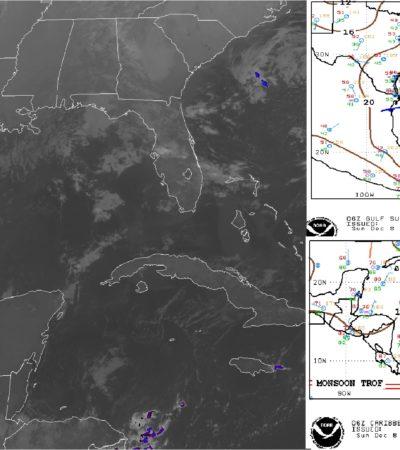 PRONÓSTICO DEL CLIMA: Habrá nubosidad y algunas lluvias en Quintana Roo