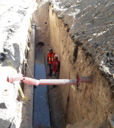 Ruptura de tuberías en la zona hotelera provoca rebosamiento de aguas negras y poca presión en Cozumel: CAPA