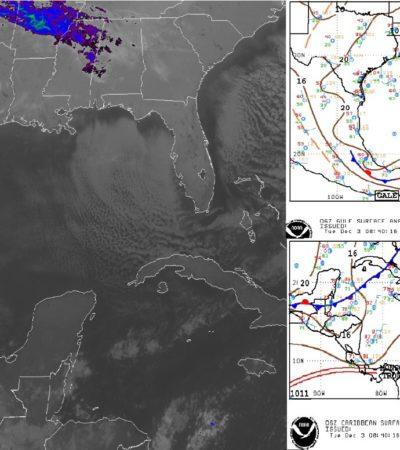 PRONÓSTICO DEL CLIMA: Frente frío número 19 baja la temperatura hasta 18 grados centígrados en Quintana Roo