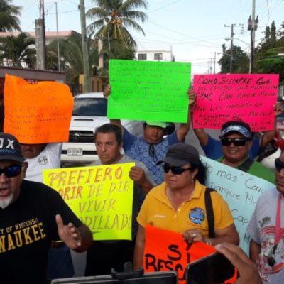 Se manifiestan prestadores de servicios náuticos contra la Conanp para exigir que se abra 'El Cielo' en Cozumel