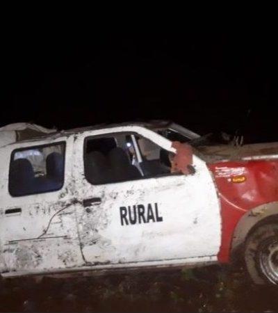 Cae taxi rural a un barranco en Veracruz; reportan saldo de dos muertos y 13 heridos