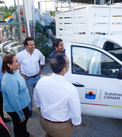 Refuerzan trabajo y atención con nuevo equipo vehicular para la limpieza en colonias de Cozumel