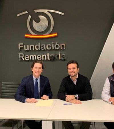 Refrenda Pedro Joaquín acuerdo de colaboración con Fundación Rementería para brindar cirugías de cataratas y carnosidad gratuitas en Cozumel