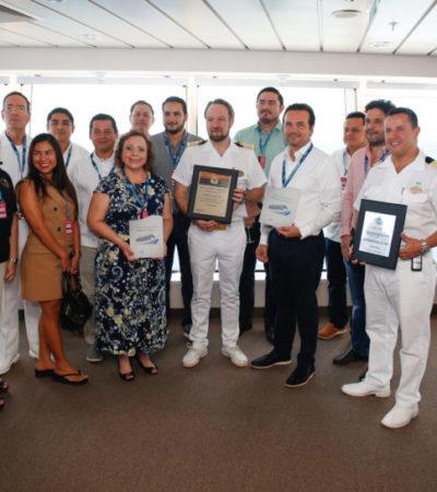Reafirma Cozumel su liderazgo turístico con el arribo del crucero Norwegian Bliss
