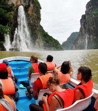 Reabren a turistas paseos por el Cañón del Sumidero tras desprendimiento de rocas