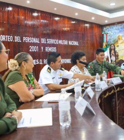 Exhortan a jóvenes a realizar trámite de la cartilla militar en Isla Mujeres