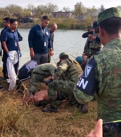 Vuelca vehículo de la GN durante persecución y cae a un canal; cuatro oficiales mueren ahogados