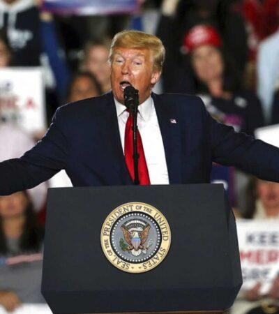 """""""NOS LLEVAMOS BIEN CON SU PRESIDENTE, PERO…"""": """"Con todo respeto, México está pagando por el muro"""", se pavonea Trump"""