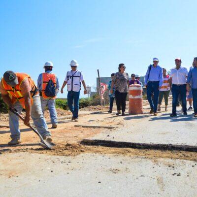 Supervisa Juan Carrillo avances en obras de Aguakan hacia Punta Sur