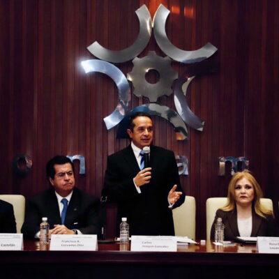 PRESENTAN EN CDMX PLATAFORMA PARA INVERTIR EN QR: Se van a generar más y mejores empleos para Quintana Roo mediante la promoción de inversiones, asegura Carlos Joaquín