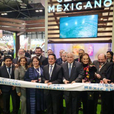 Promocionan con éxito destinos del Caribe Mexicano en Fitur, afirma Darío Flota