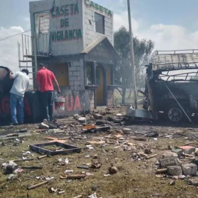 Captan cámaras de seguridad momento exacto de la explosión de un polvorin en Zumpango, Edomex