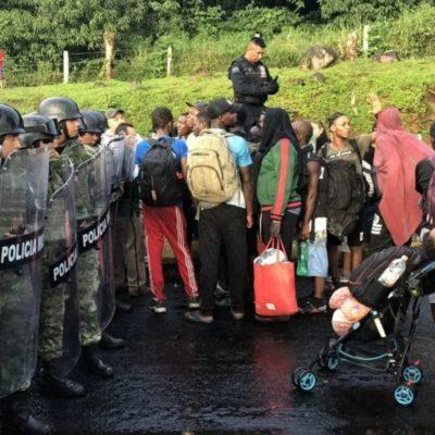 Guardia Nacional impide avance de migrantes que entraron por la fuerza a puente fronterizo en Chiapas
