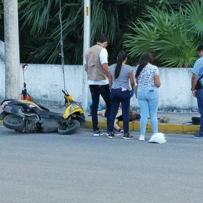Muere turista en Cozumel, al derrapar en moto